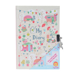 Tiger Tribe Lockable Diary - Caravan