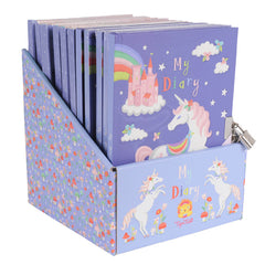 Tiger Tribe Lockable Diary, Unicorn Greetings