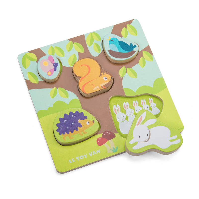 Le Toy Van Petilou Mama Baby Counting Puzzle
