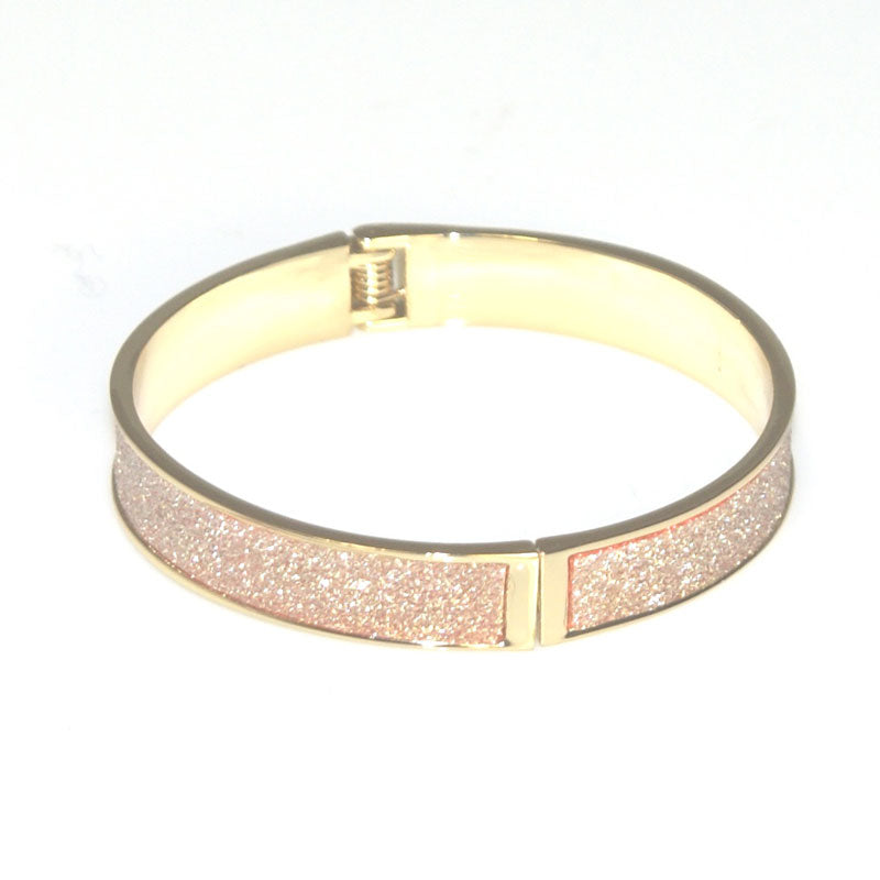 Goody Gumdrops Metal Glitter Bangle Gold