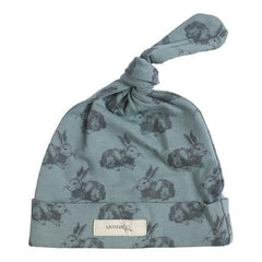 Mint Rabbit Knot Beanie