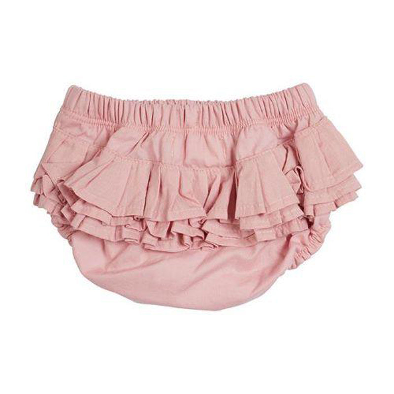 Pink Frill Woven Bloomer