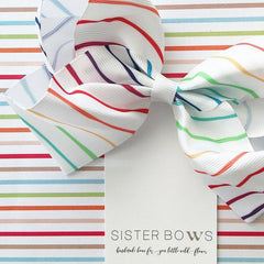 Rainbow Stripe Sister Bow