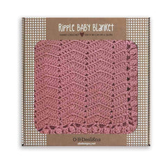 OB Designs Ripple Blanket Blush