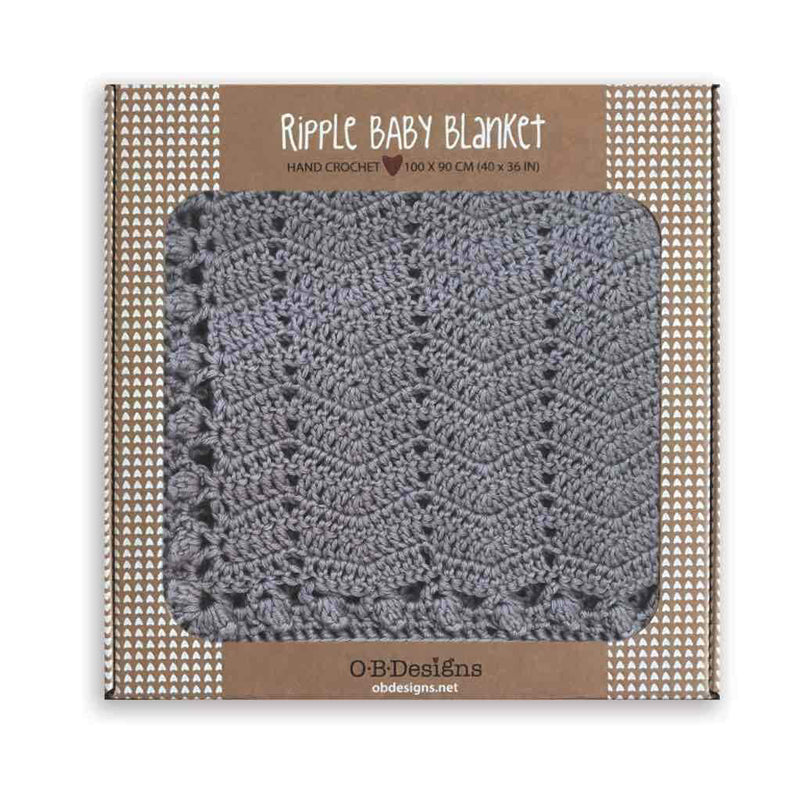 OB Designs Ripple Blanket Grey