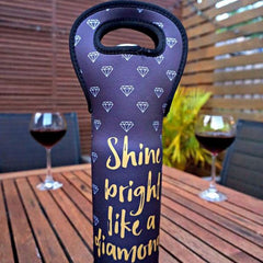 Wine Bottle Carrier - Shine Bright like a Diamond