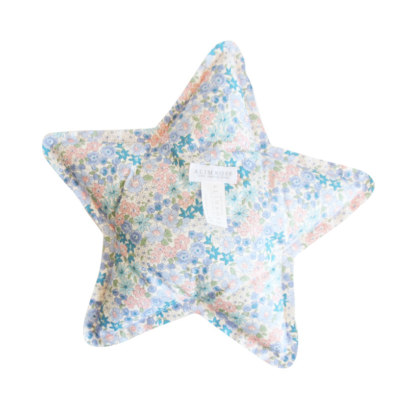 Alimrose Star Cushion - Liberty Blue and Pink Floral