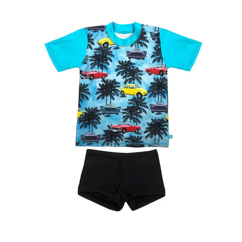 Salty Ink Designs Tropix Short Sleeve Rash Vest Set