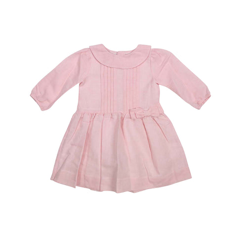 Korango Vamos Vintage Girls Linen Collared Dress