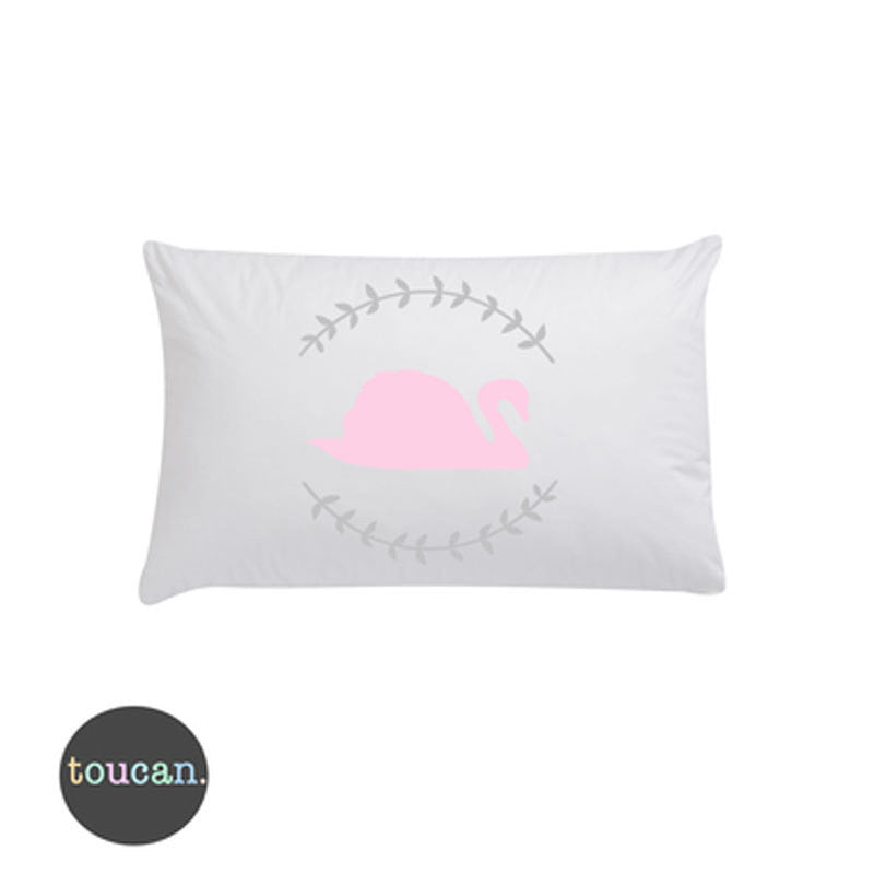 Toucan Swan & Laurel Pillowcase