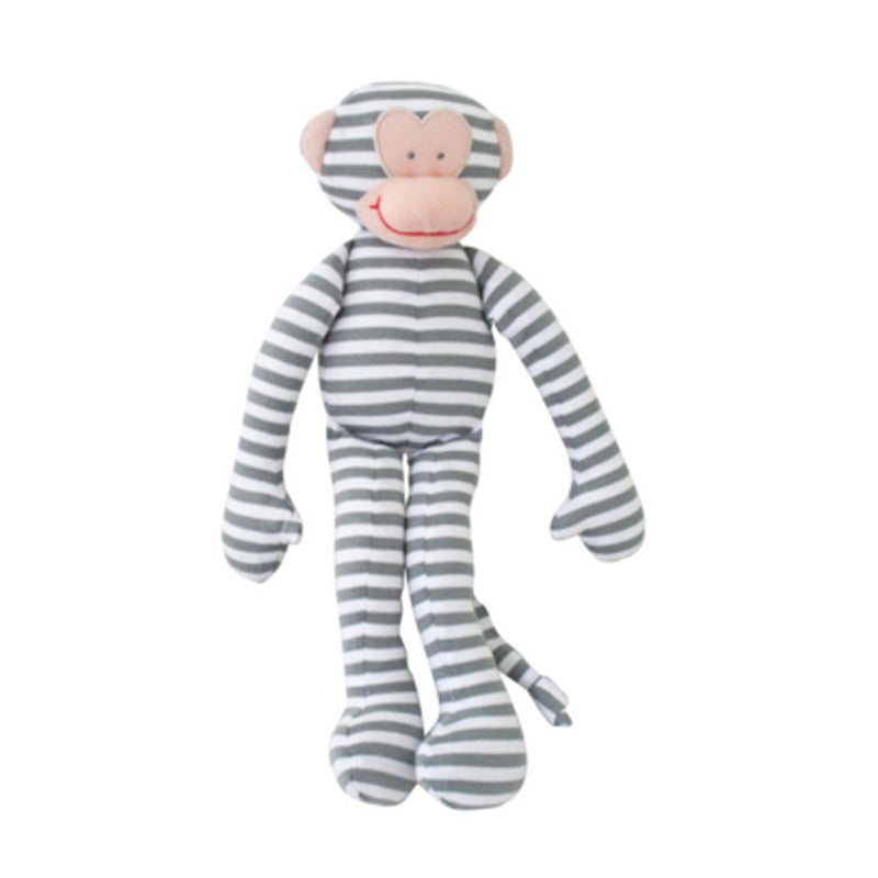 Alimrose Monkey Toy Rattle - Grey Stripe, alimrose designs, alimrose stockist