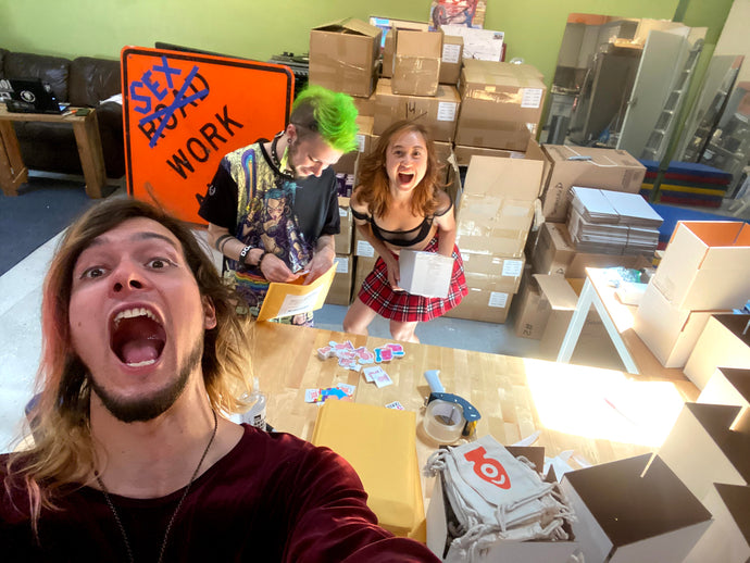 Sex Toy Packaging Party: Our Kickstarter Fulfillment!
