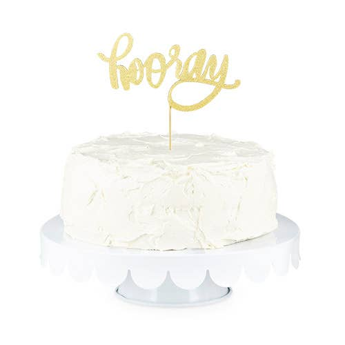 Cakewalk - Gold Hooray Paper Cake Topper