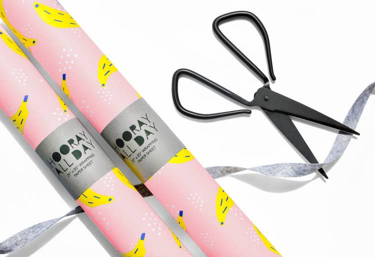 Hooray All Day - Bananas Wrapping Paper / Gift Wrap Sheet