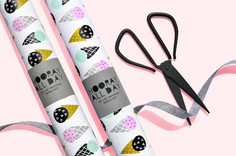 Hooray All Day - Sherbet Wrapping Paper Sheet
