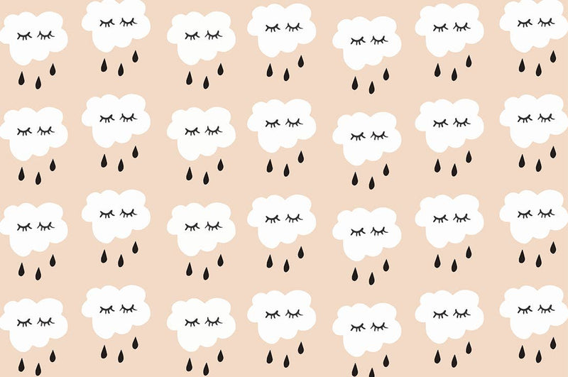 Hooray All Day - Rain Clouds Wrapping Paper Sheet