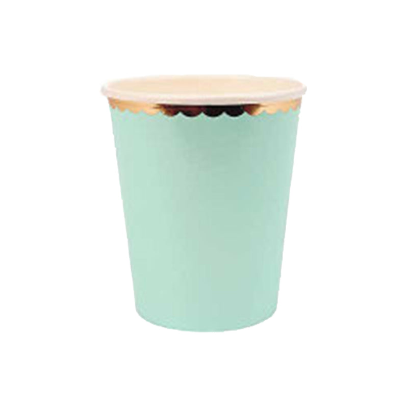 Pastel Baby Mint  Paper Cups | Modern Party