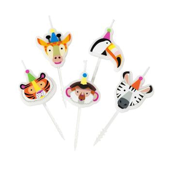 Party Animals Animal Face Candles | Party Supplies | Safari Jungle Zoo