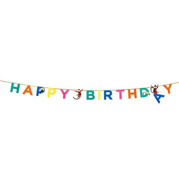 Party Animals Banner  | Party Supplies | Garland Happy Birthday
