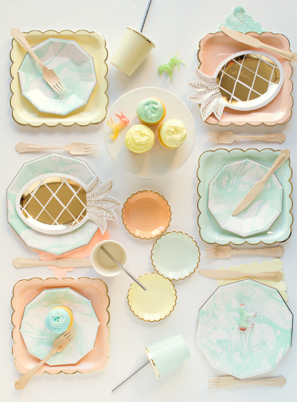 Baby Mint Plate  Small  | Modern Party