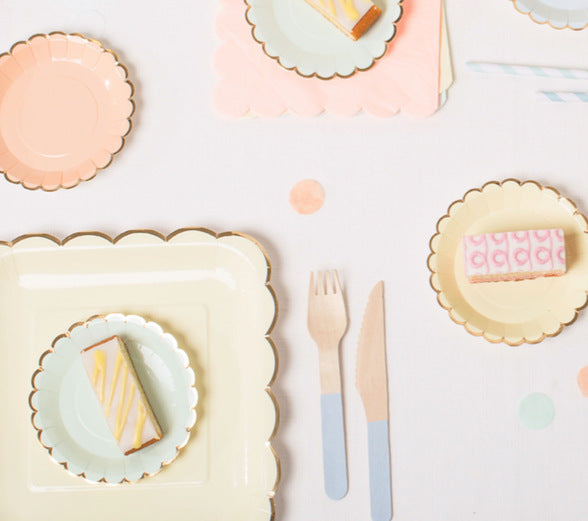 Copy of Baby  Blue Plate  Small  | Modern Party