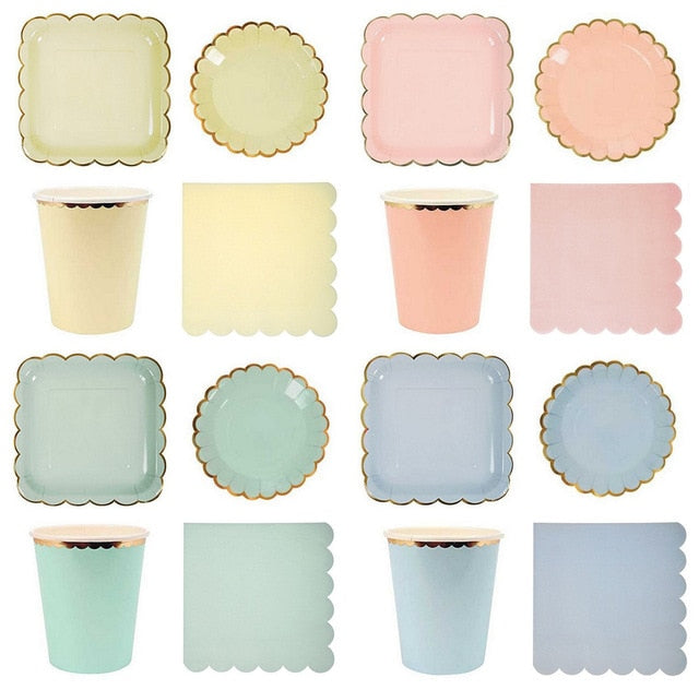 Pastel Baby Blue Plate | Modern Party Supplies
