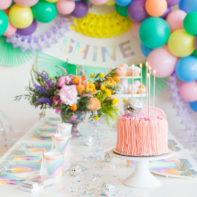 Rainbow Pastel Party Supplies | Unicorn Party Plates