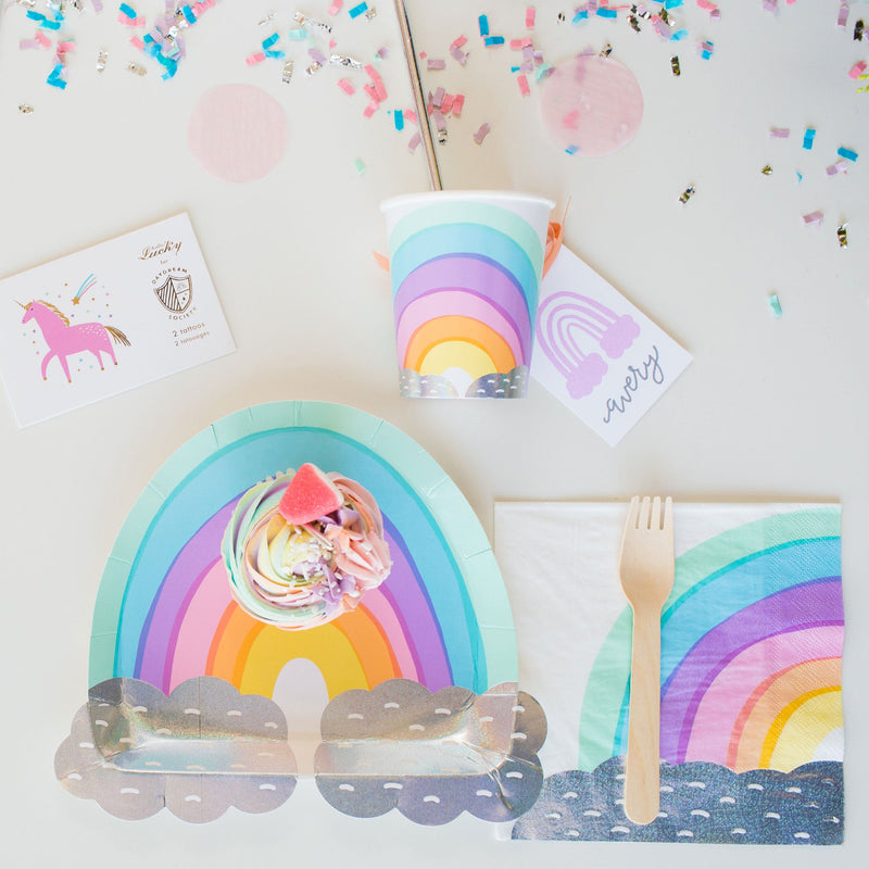 Rainbow Pastel Cup Party Supplies | Unicorn Party Cup