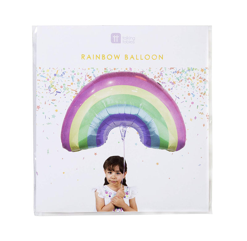 Giant Unicorn Pastel Rainbow Balloon | Unicorn Party Plates