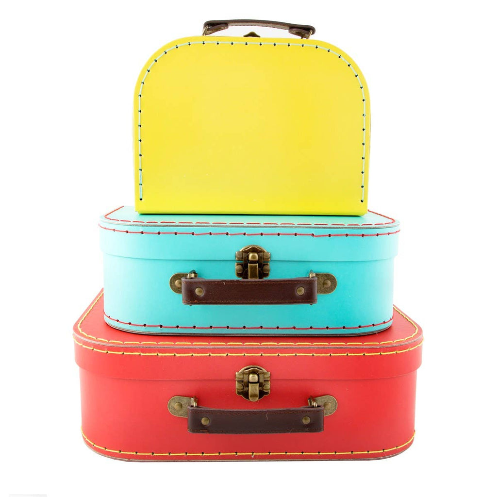 Sass & Belle - Brights Retro Suitcases - Set of 3