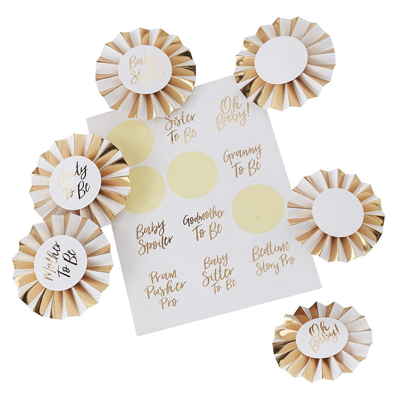 Oh Baby! Shower Badge Kit - Party Supplies - Crafty Party Design