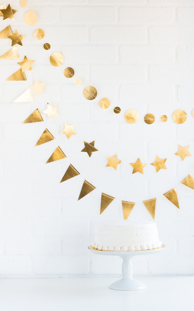 Love Mini Banner Set Golden | Modern Bride Party Supplies