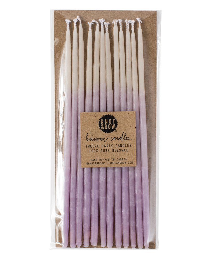 OMBRÉ TALL BEESWAX PARTY CANDLES