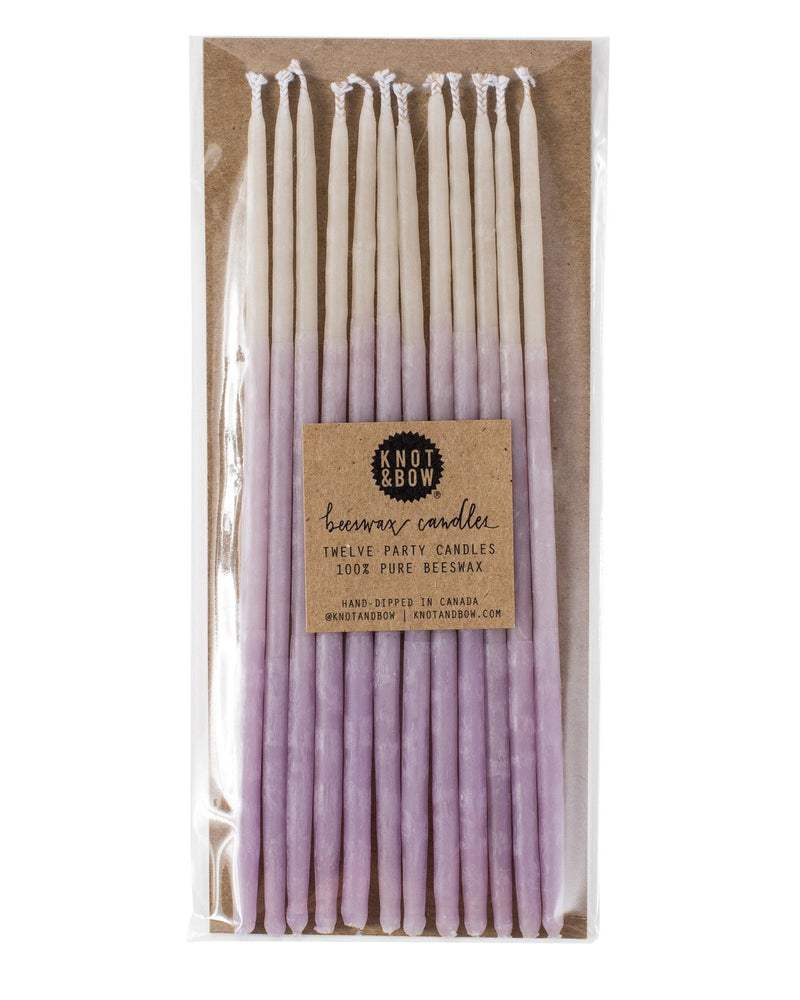 Lavender Candles Candles 6'' | Crafty Party Design | OMBRÉ BEESWAX PARTY CANDLES