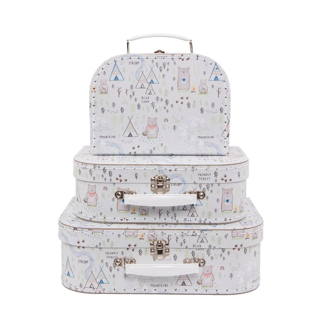 Sass & Belle - Bear Camp Suitcases - Set of 3