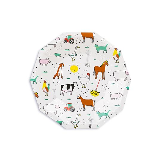 Farm Animals Small Plates| Farm Party Supplies | Farm Party Supplies
