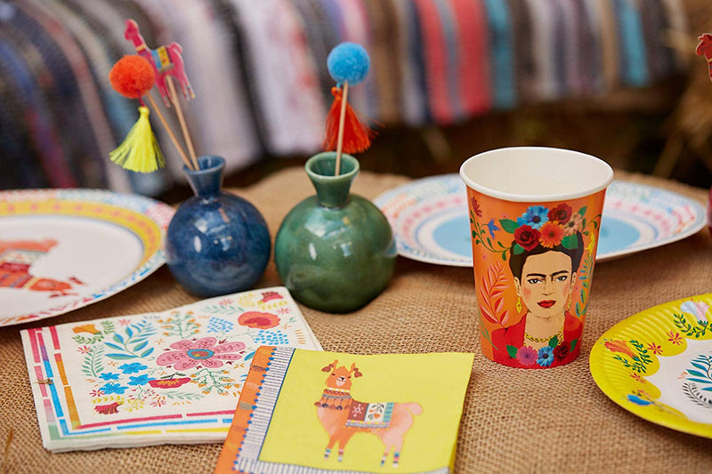 Kahlo Party Supplies | Boho Cups Floral | Modern Party