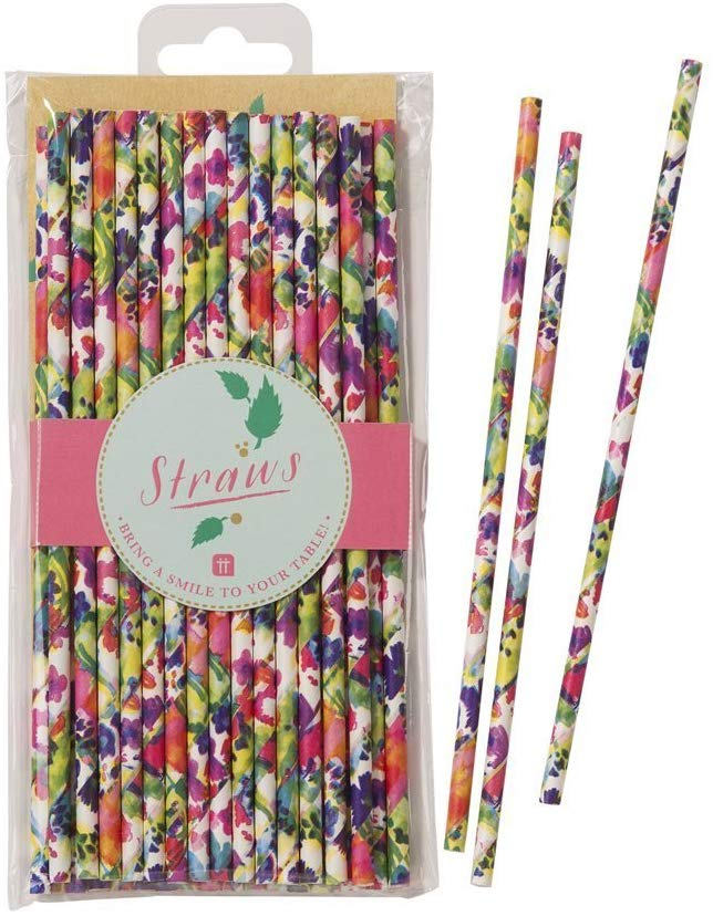 Boho  floral paper straws | Modern Party
