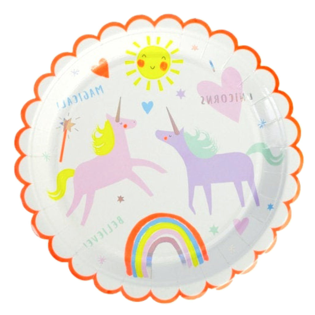 Large Plate  Unicorn  Magical Rainbow