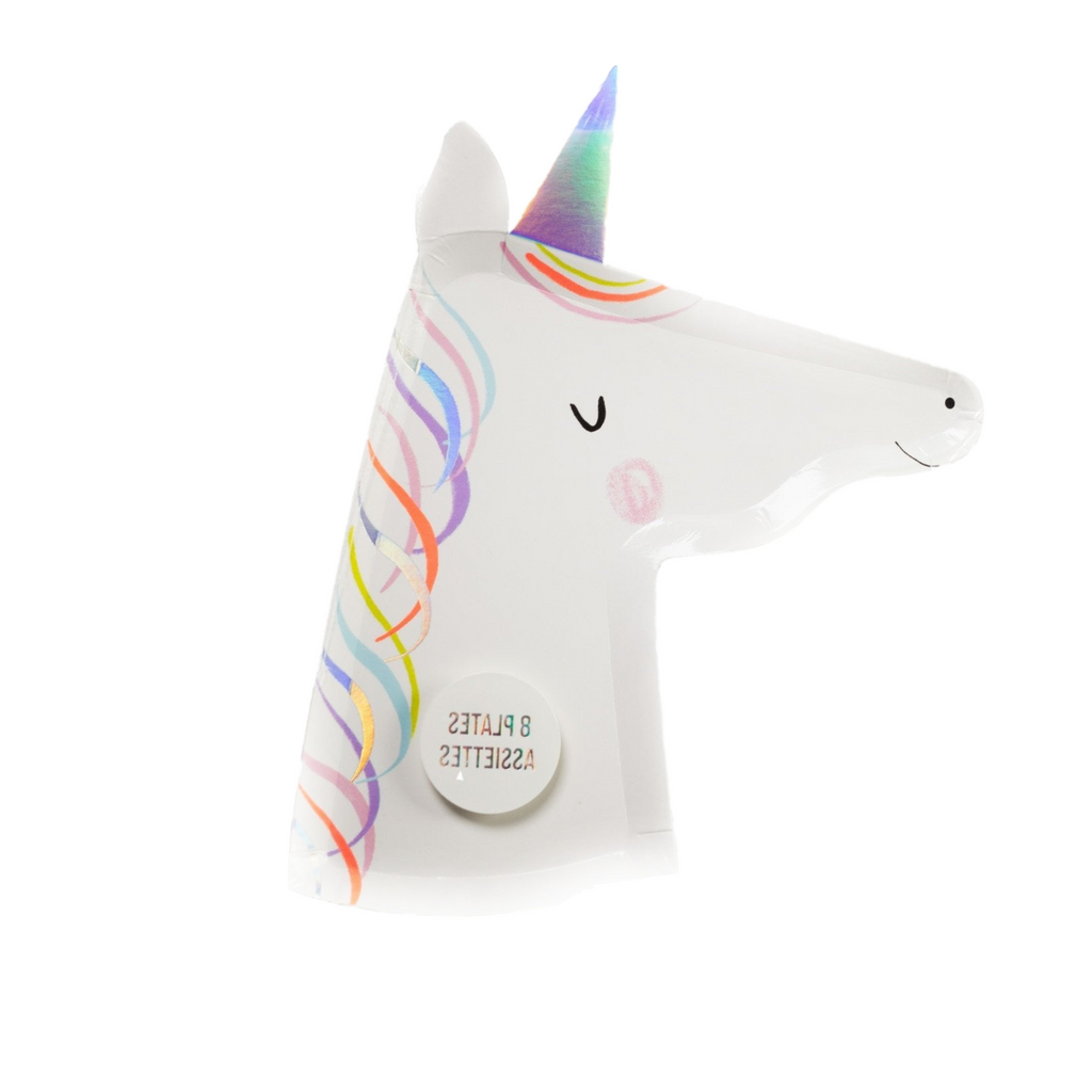 Die Cut Plates Magical Rainbow | Plate Unicorn