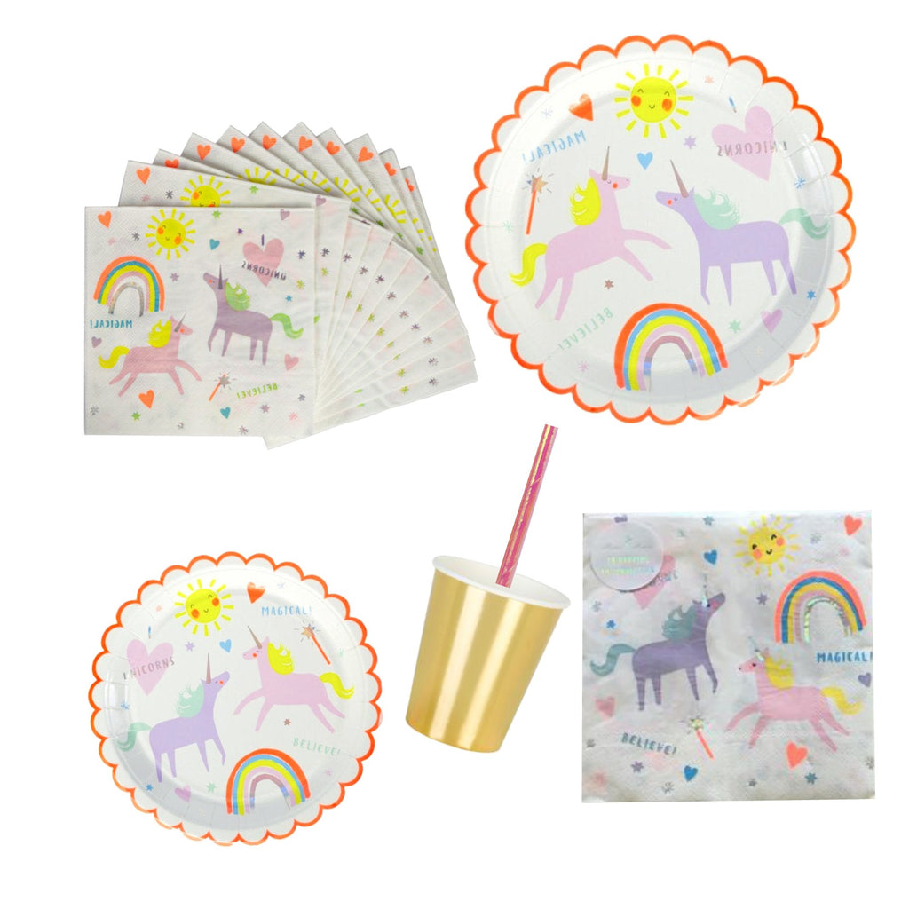 Small Magical Rainbow | Plate Unicorn |