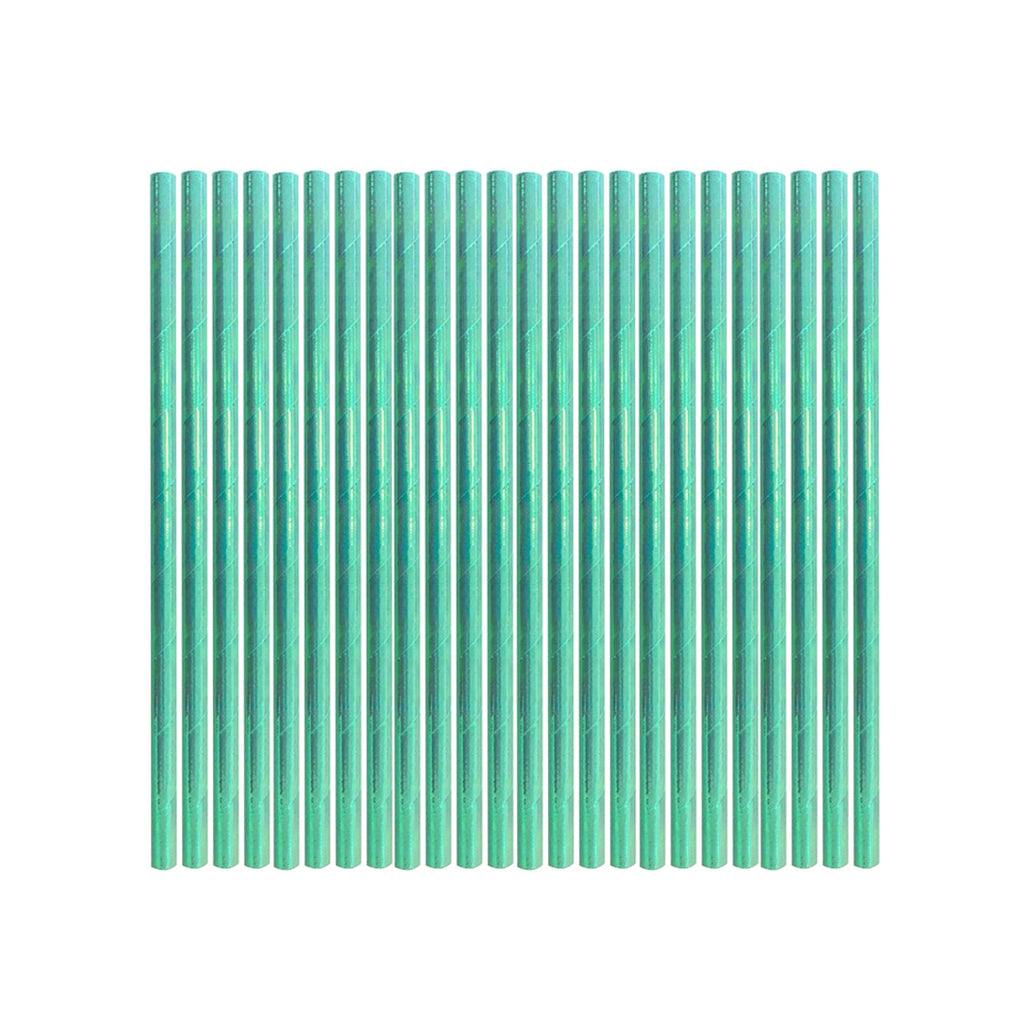 Mint Iridescent Party Straws | Iridescent Party Supplies