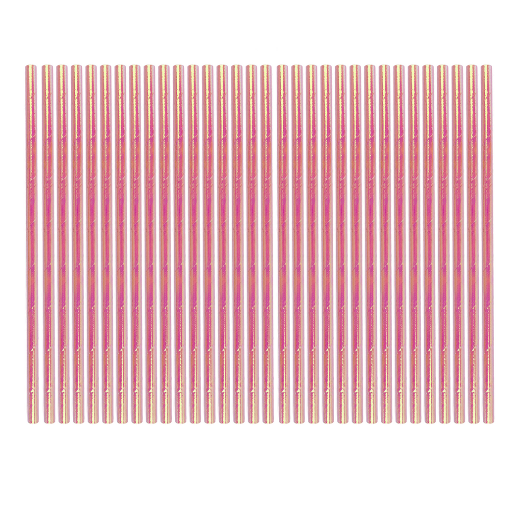 Pink Iridescent Party Straws | Iridescent Party Supplies