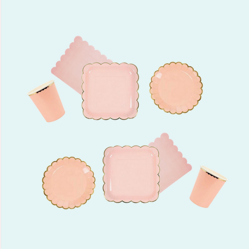 Baby  Peach Plate  Small  | Modern Party | Crafty Party Design