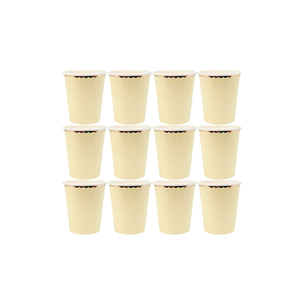 Pastel Yellow Paper Cups