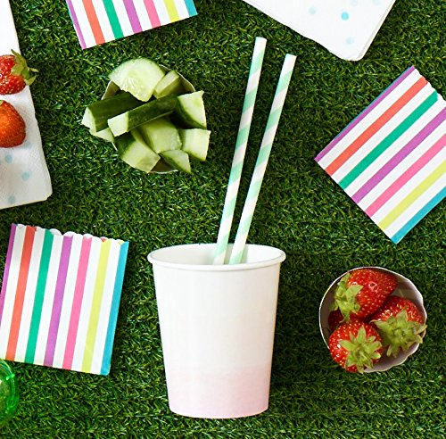 Pastel Mint  Paper Straws | Modern Party