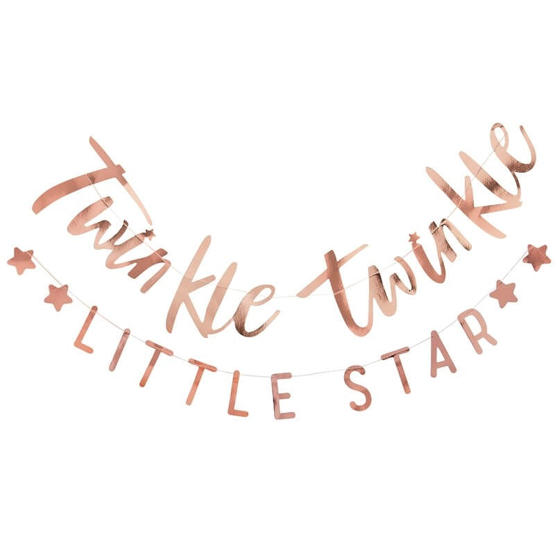 Rose Gold  Baby  Shower  Banner | Twinkle Twinkle Little Star | Baby Shower Bunting