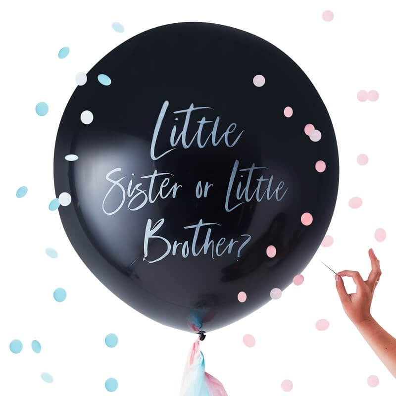 Gender Reveal Little Brother Or Sister Balloons | Crafty Party Design | Giant Balloons Gender Reveal