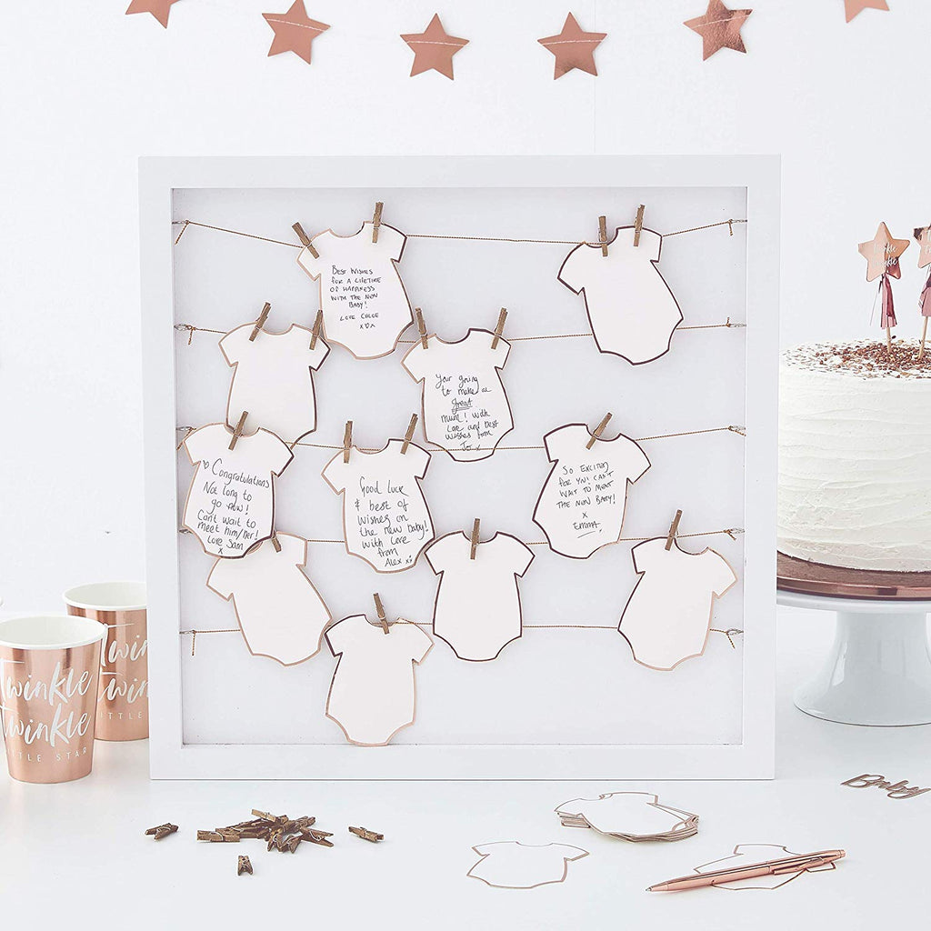 Baby Grow Alternative Frame Guest Book - Twinkle, Twinkle, Little Star Party Supplies