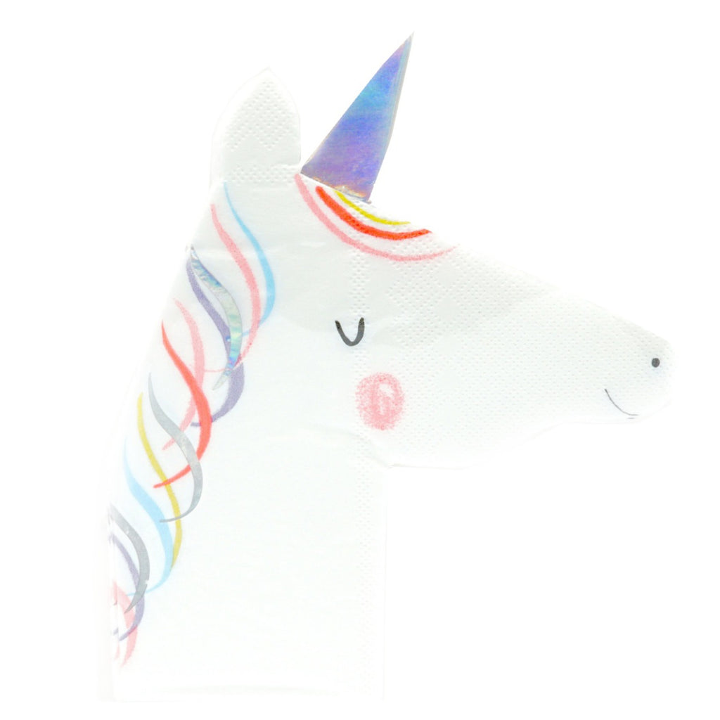 Die Cut Napkins Magical Rainbow | Napkins  Unicorn